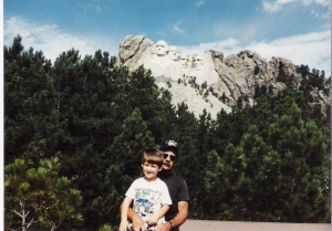 This was a trip to Mount Rushmore.  Charles was pretty small then.  Hard to believe he is 6'2 these days!