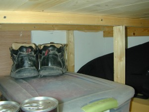 Here is the tub with my clothes in and a place for my shoes on top!  :)